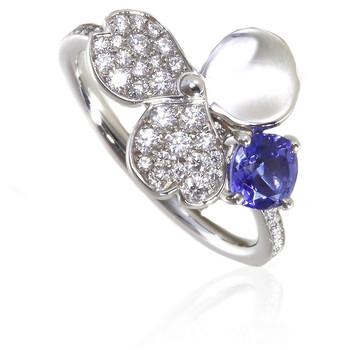 Trang sức Tiffany & Co. Paper Flowers Kim cương và Tanzanite Flower Nhẫn