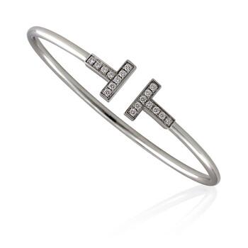 Trang sức Tiffany & Co. T Kim cương Wire Vòng đeo tay- Size Small chính hãng sale giá rẻ Hà nội TPHCM