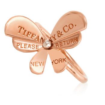 Trang sức Tiffany & Co. Tiffany Nữ Vàng hồng 18K và Bạc 925 Return To Tiffany Love Bugs Butterfly Nhẫn