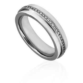 Trang sức Tiffany & Co. T Nữ Narrow 18kt Vàng trắng Kim cương Nhẫn