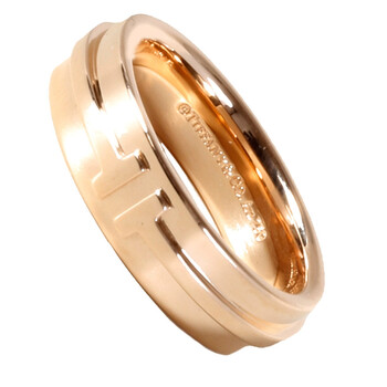 Trang sức Tiffany & Co. Unisex Vàng hồng 18K T Two Narrow Nhẫn 4.5mm chính hãng sale giá rẻ Hà nội TPHCM