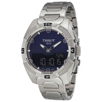 Đồng hồ Tissot T-Touch Expert Solar mặt số màu xanh dương nam T0914204404100 chính hãng sale giảm giá rẻ nhất ở tại Hà nội TPHCM