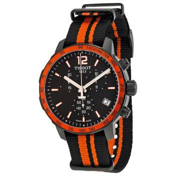 Đồng hồ Tissot Quickster Chronograph mặt số màu đen dây Nylon đen vàng thể thao nam T0954173705700 chính hãng sale giảm giá rẻ nhất ở tại Hà nội TPHCM