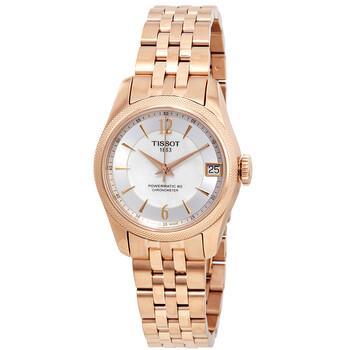 Đồng hồ Tissot T-Classic Ballade Automatic Chronometer mặt số màu trắng ngọc trai nữ T108.208.33.117.00 chính hãng sale giảm giá rẻ nhất ở tại Hà nội TPHCM