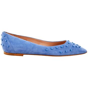 Giày Tod's nữ màu xanh dương Ballerina in Suede chính hãng