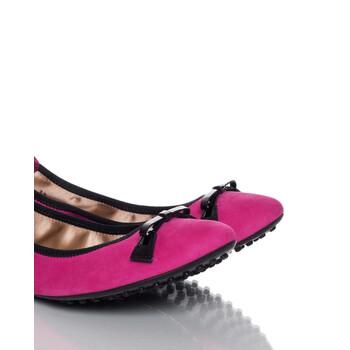 Giày Tod's nữ Ballerina Flats in Medium Magenta / màu đen chính hãng sale giá rẻ