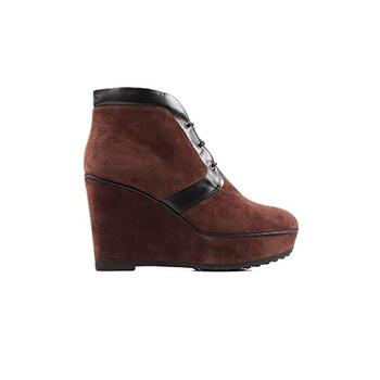 Giày Tod's nữ Ankle Suede Boots in Cigar / màu đen chính hãng