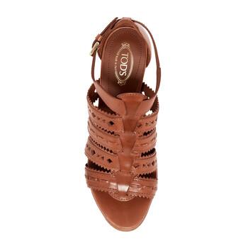 Giày Tod's nữ Platform Gladiator Sandals in Medium Natural chính hãng