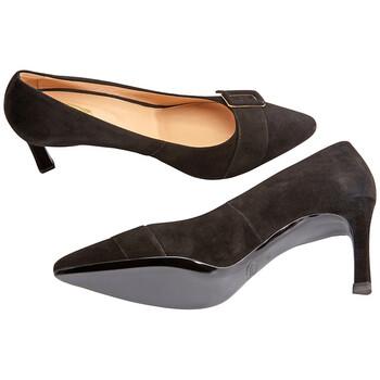 Giày Tod's nữ Heel Shoes With Buckle màu đen chính hãng