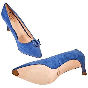 Giày Tod's nữ 7.5cm Heel Shoes in Dark Jeans chính hãng