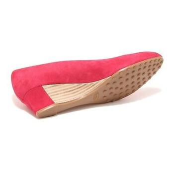Giày Tod's nữ Suede Wedge màu đỏ dâu tây chính hãng sale giá rẻ