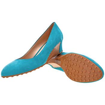 Giày Tod's nữ Suede Wedge in Lapislazzuli chính hãng