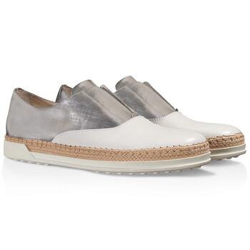 Giày Tod's nữ Slip on Sneakers with Mettalic Effect màu trắng / Platinum chính hãng