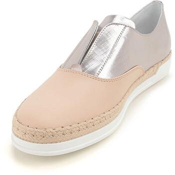 Giày Tod's nữ Slip on Sneakers with Mettalic Effect màu sáng / Metal Gold chính hãng