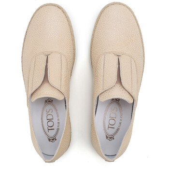 Giày Tod's Men's Slip on Sneakers with Mettalic Effect màu sáng chính hãng