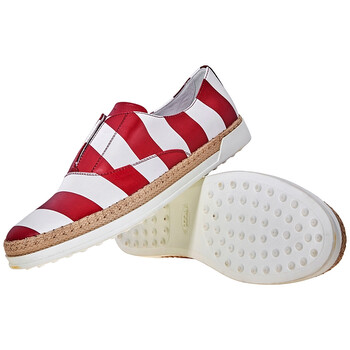 Giày Tod's nữ Slip-on Shoes Leather màu trắng / Dark Amaranth chính hãng sale giá rẻ