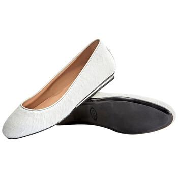 Giày Tod's nữ Ballerina Flats màu trắng / Chalk chính hãng sale giá rẻ