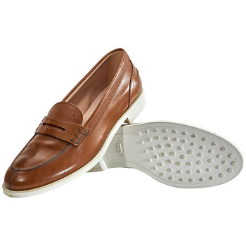 Giày Tod's nữ Leather Mocassins in Cocoa chính hãng sale giá rẻ