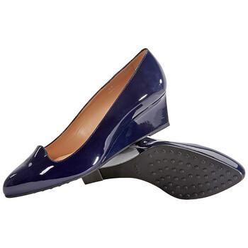 Giày Tod's nữ Suede Wedge màu sáng màu xanh dương chính hãng sale giá rẻ