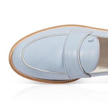Giày Tod's nữ Leather Loafers in Medium Celest / màu trắng chính hãng