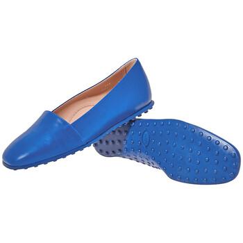 Giày Tod's nữ Leather Slippers in Gentia chính hãng