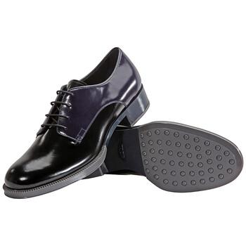 Giày Tod's nữ Glossy Leather Shoes màu đen / Light Blue / Dark Galaxy chính hãng