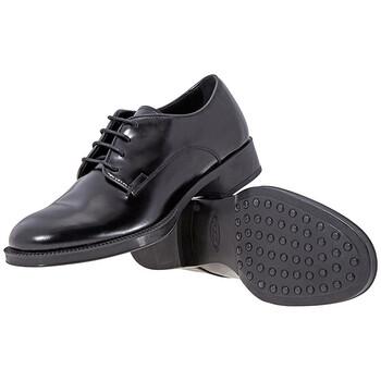 Giày Tod's nữ Glossy Leather Lace-up Shoes màu đen chính hãng