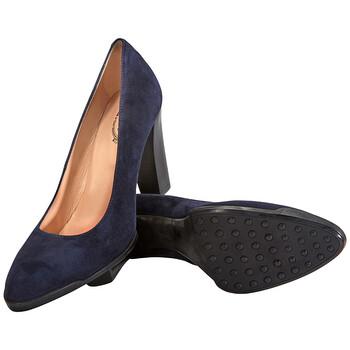 Giày Tod's nữ Suede High Heel Pumps in Dark Galaxy chính hãng