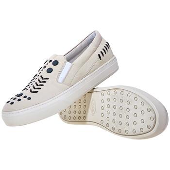 Giày Tod's nữ Suede Slip Ons màu sáng Putty chính hãng sale giá rẻ