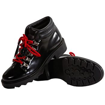 Giày Tod's nữ Leather Lace-Up Ankle Boots màu đen chính hãng