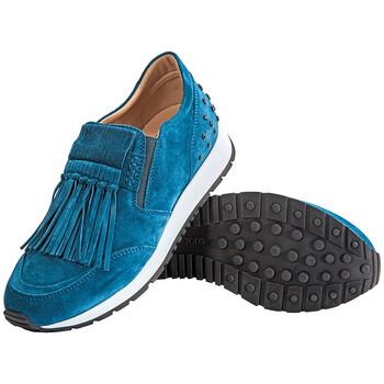 Giày Tod's nữ Knotted Fringed Sneakers màu sáng Tropical chính hãng
