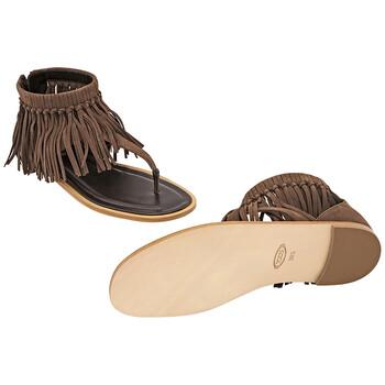 Giày Tod's nữ Calfskin Sandals in Rosewood chính hãng