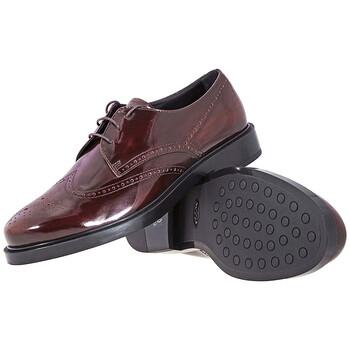 Giày Tod's nữ Brushed Leather Shoes in Dark màu đỏ màu vàng cam chính hãng sale giá rẻ