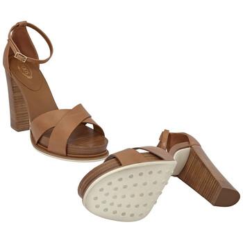 Giày Tod's nữ Smooth Leather Sandals màu sáng Natural chính hãng
