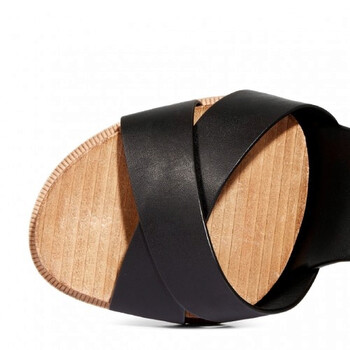 Giày Tod's nữ Smooth Leather Sandals màu đen chính hãng