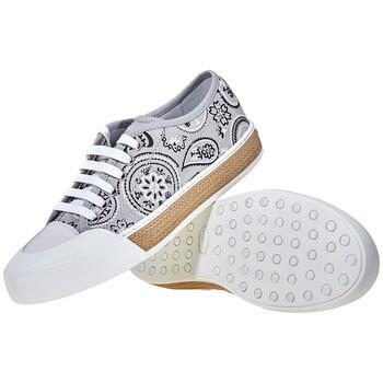 Giày Tod's nữ Canvas Sneakers in Medium Cement / màu trắng chính hãng