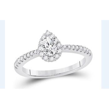 Trang sức Top Creation 14k Pear Shaped Kim cương Nhẫn chính hãng sale giá rẻ Hà nội TPHCM