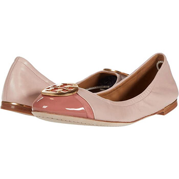 Giày Tory Burch nữ màu hồng Minnie Cap Toe Ballet Flats chính hãng
