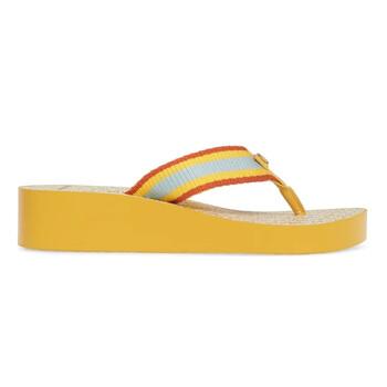 Giày Tory Burch nữ Gemini Link Wedge Flip-flops in Yellow chính hãng
