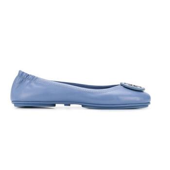 Giày Tory Burch nữ Minnie Logo Ballet Flats màu xanh dương chính hãng