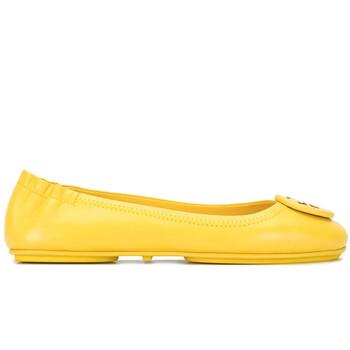 Giày Tory Burch nữ Minnie Logo Ballet Flats In Limone chính hãng
