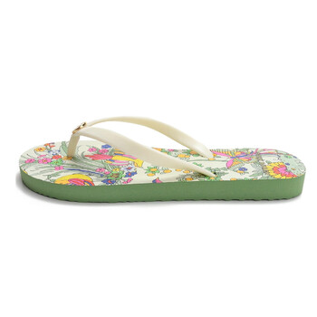 Giày Tory Burch nữ New Ivory / New Ivory Promised Land Printed Thin Flip-flops chính hãng