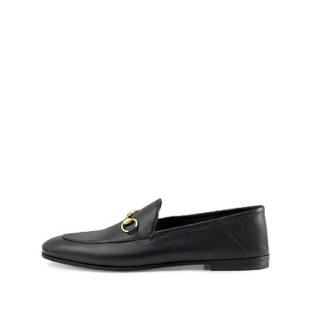 Giày Gucci ucci màu đen Brixton Horsebit Leather Loafers chính hãng