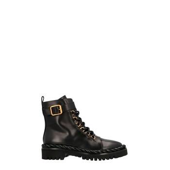 Giày Valentino Garavani VLOGO Signature 35mm màu đen Combat Boots chính hãng