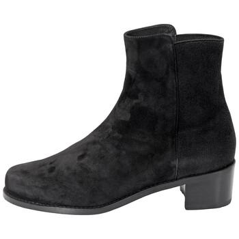 Giày Stuart Weitzman nữ màu đen Easy-on Reserve Ankle Boots