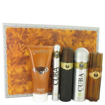Nước hoa Cuba Gold Bộ quà tặng 100ml Eau De Toilette EDT + 100ml After Shave + 200ml Body Deodorant + 200ml Shower Gel + 1