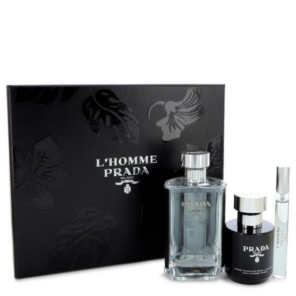 Nước hoa Prada L'Homme Bộ quà tặng 100ml Eau De Toilette EDT + 10ml Mini EDT + 100ml Shower Cream nam