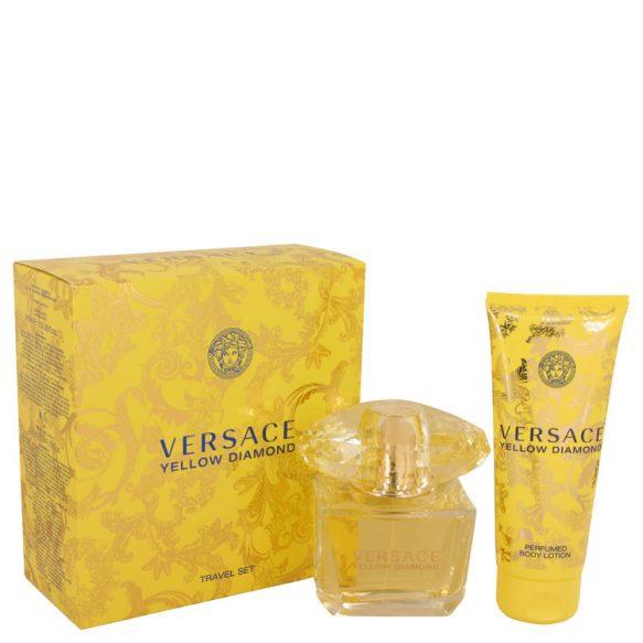 Nước hoa Versace Yellow Diamond Bộ quà tặng 90ml Eau De Toilette EDT + 100ml Body lotion nữ