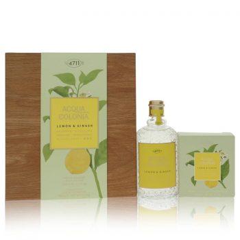 Nước hoa 4711 Acqua Colonia Lemon & Ginger Bộ quà tặng: 5.7 oz Eau de Cologne Splash & Spray + 100ml Aroma Soap Chính Hãng