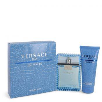 Nước hoa Versace Man Bộ quà tặng: 100ml Eau De Toilette EDT Spray Eau Frachie + 100ml Sữa tắm Chính Hãng